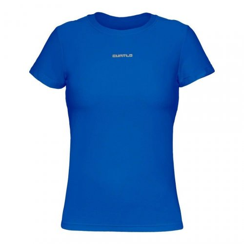 Camisa Curtlo Active Fresh Feminina (manga curta) Azul Royal