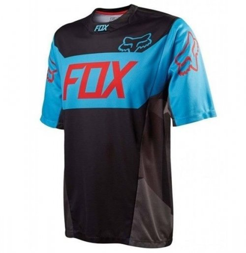 Camisa Fox Demo Device Preto/Azul (manga curta) TM: L-G
