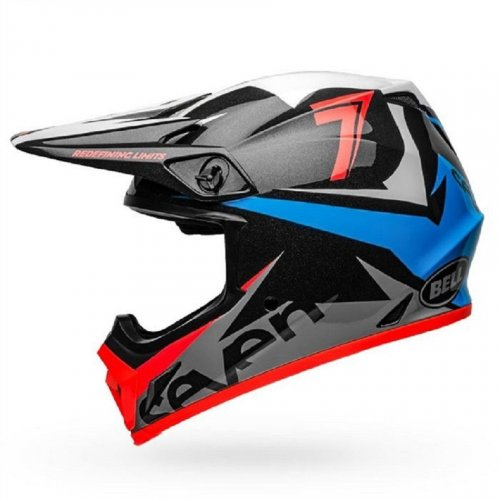 Capacete Bell MX-9 Mips Seven Ignite Navy/Coral