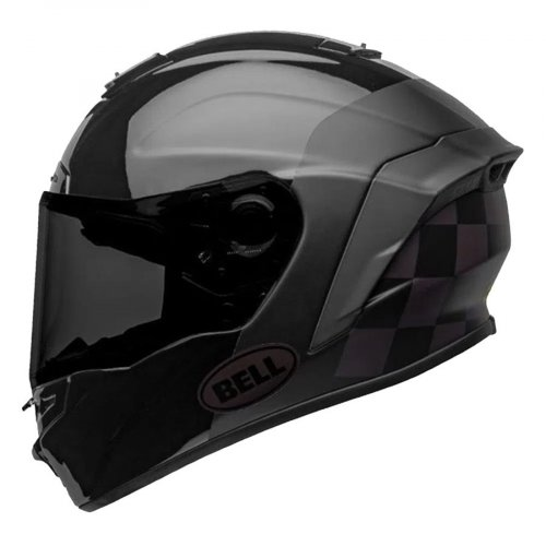 Capacete Bell Star Mips DLX Lux Checkers Fosco/Brilho Preto Root Beer