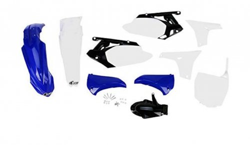 Kit Plástico YZF 450 10-13 Azul/Branco C/Number Plate Frontal