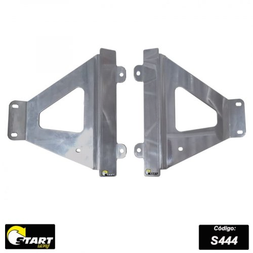Protetor De Radiador Lateral MX Triangulo CRF 450r 2021 Alumínio Polido - Start Racing